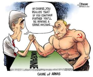 Will Scribe Cartoon Kerry and Putin 1