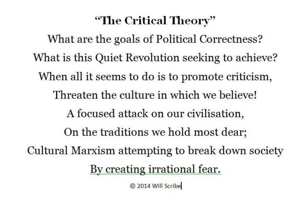 Will Scribe Critical Theory 1